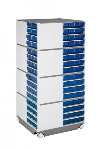 Модульная поворотная стойка для хранения компонентов